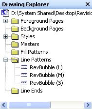 Custom Line Patterns in Drawing Explorer
