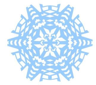 Finished Snowflake