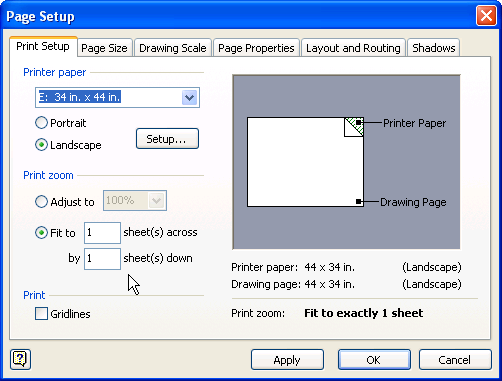 page setup dialog SharePoint Planning and Architecture Resources : Visio Diagrams