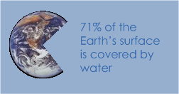 71% of Earth's surface