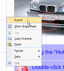 Export Right-click Menu Item