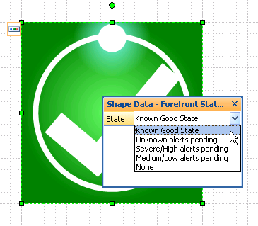 Shape Data interface for Visio Forefront Multi-shape
