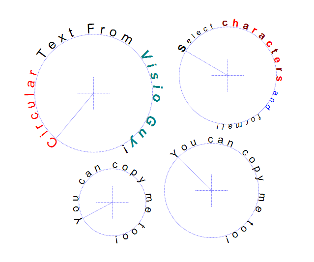Circular Text Generator Samples