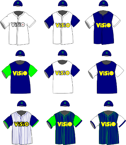 Visio Softball Jerseys - Samples