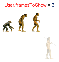 Ape to Man Frames to Show