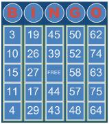 Visio Bingo Template - Theme 3