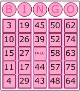 Visio Bingo Template - Theme 4