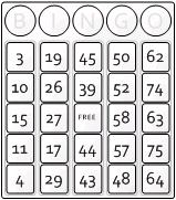 Visio Bingo Template - Theme 5