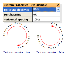 Circular Text Generator (version 2) - Clockwise and counterclockwise text