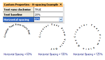 Circular Text Generator (version 2) - Horizontal spacing