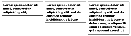 Lorem Ipsum – Visio IA Text Placeholder Shape - Showing Text Growth
