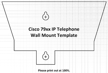 Cisco IP Telephone Shapes - Wall Plate