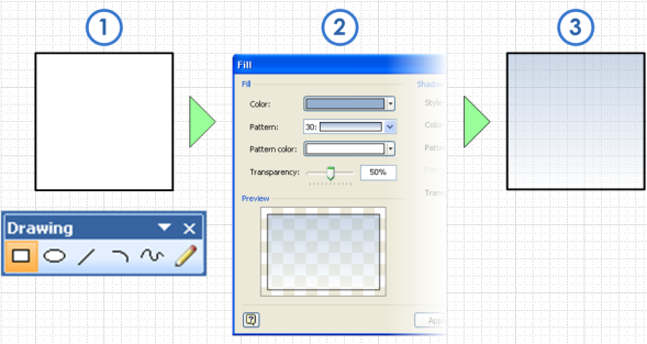 How to Draw Glass in Visio - Transparency & Gradient Fills