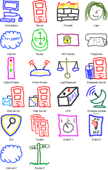 Crayon Network Shapes Visio Guy