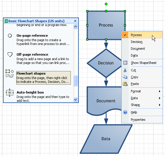 visio guy » visio multi shapesfour flowchart shapes for the price of one