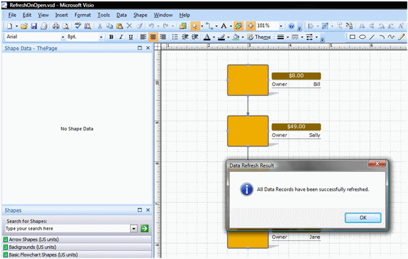 data refresh on open � visio guy