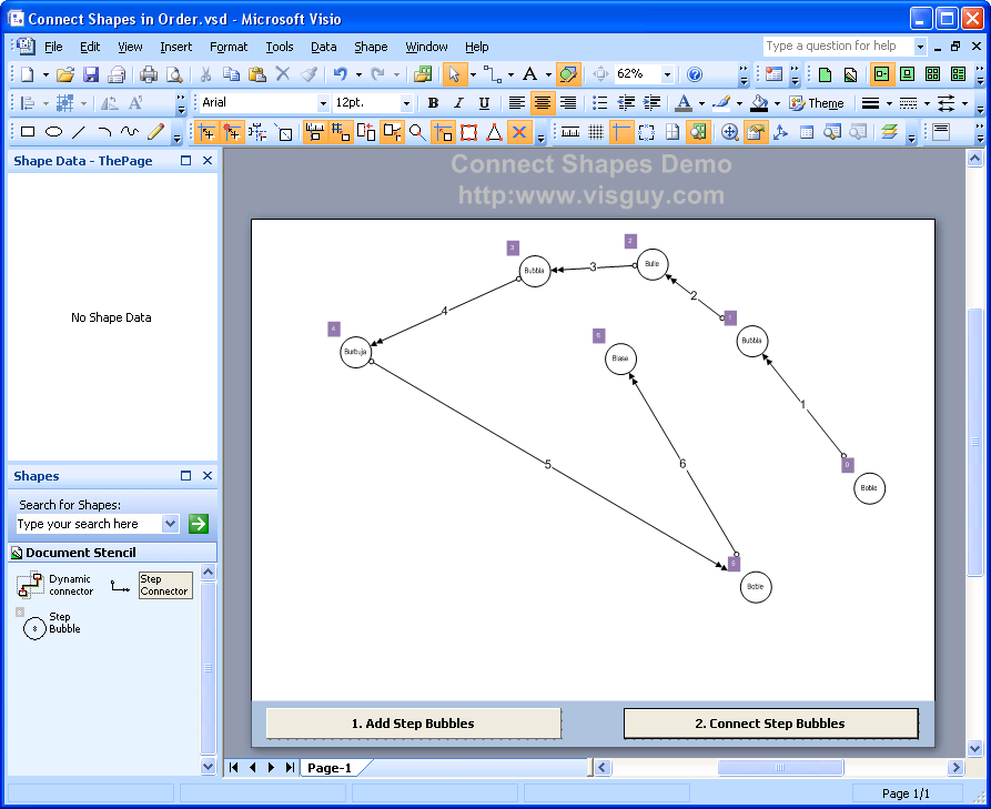 Automatically Number & Connect Shapes – With Code! – Visio Guy