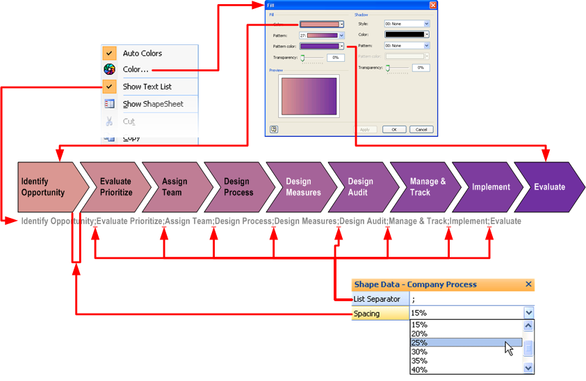 Automatic Chevron Process Shape Visio Guy - Timeline template visio