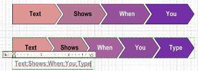 chevron-text-shows-when-typing