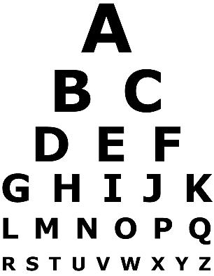 Eye Chart Template | Visio Eye Chart Template Visio Guy