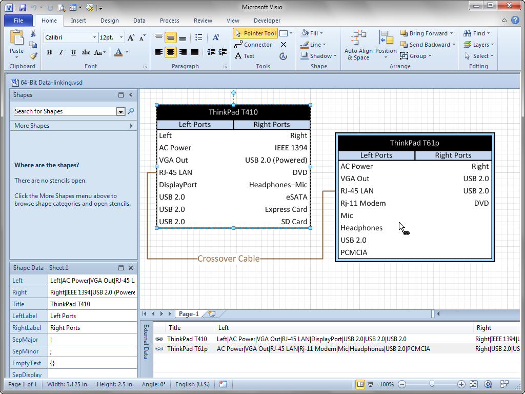 Data linking problem with 64 bit visio visio guy shapes click pooptronica Choice Image