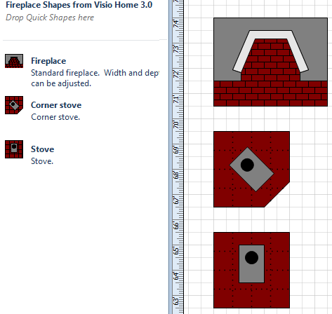 Visio Guy » Visio Fireplace Shapes