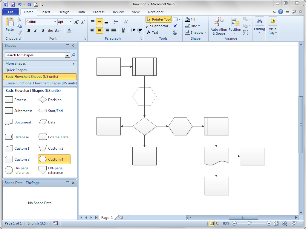 shift flowchart shapes automatically visio guy. Black Bedroom Furniture Sets. Home Design Ideas