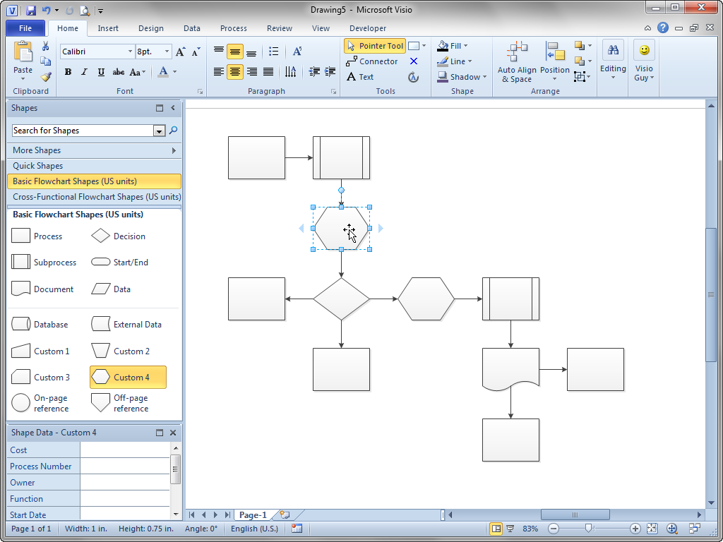Visio Guy » Shift Flowchart Shapes Automatically!