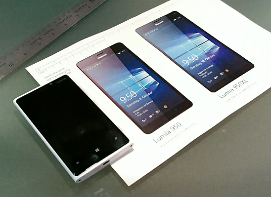 Lumia 950 vs. 950XL Comparison Template