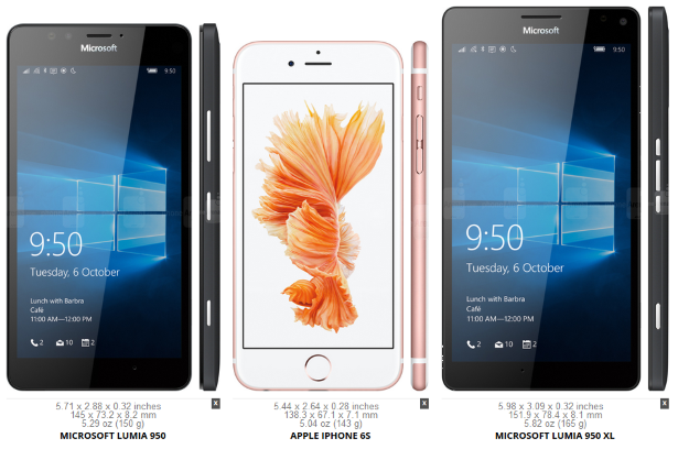 Using the 950/950XL Comparison Template: www.visguy.com/2015/11/20/lumia-950-vs-950xl-comparison-template
