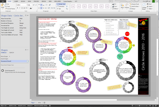 Visio Circle Arrows 2013 – Visio Guy