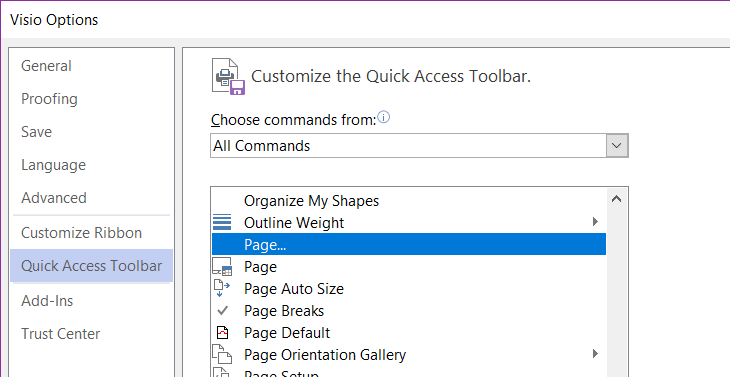 visio turn pages customize select pages - My Visio