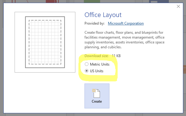 Detect drawing units in the shapesheet visio guy each template will open with the corresponding set of m or u stencils of course malvernweather Images
