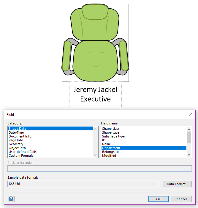 Link Fields to Subshape Text – Visio Guy