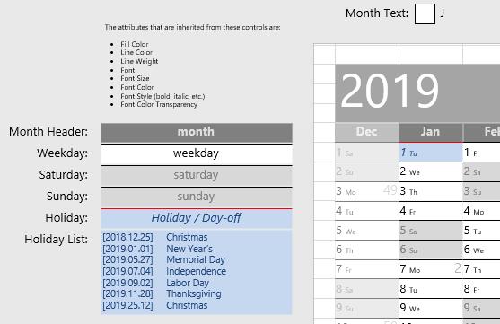Visio Year Calendar for 2019 – Visio Guy